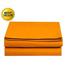 Elegant Comfort 1-Piece Fitted Sheet, Twin/Twin Xl Size, Vibrant Orange
