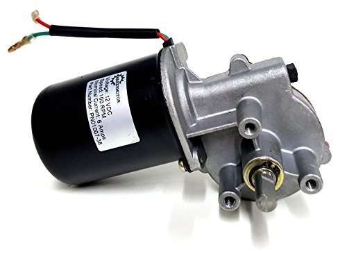 "Makermotor 3/8"" D Shaft 12V DC Reversible Electric Gear Motor 100 RPM"