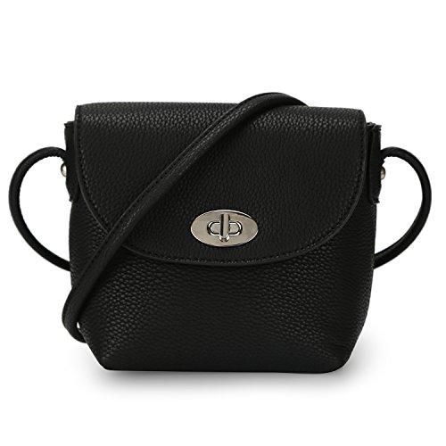 donna ecopelle mini in a a borsa DAVIDJONES nera per mano tracolla Borsa qC8AtTvA