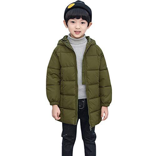 Franterd Winter Coats Little Boys&Girls Solid Long Coat Cloak Lightweight Windproof Thick Warm Jacket Outerwear (Best Light Heavyweight Boxers)