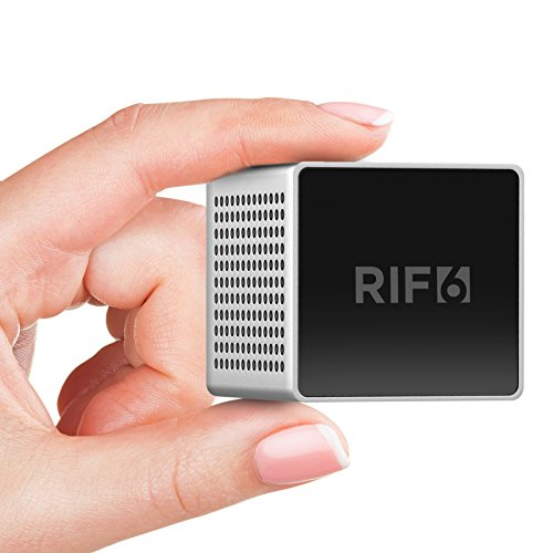 RIF6 RF00062 Sound Cube Small Bluetooth Rechargeable Portable Mini Speaker With up to 12 Hour Playtime Full High Definition Sound & Robust Bass For Smartphones Tablets & Laptops Silver