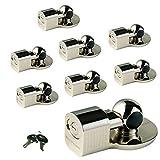 Master Lock - Fits 1-7/8'' and 2'' Couplers - (8) Chrome Plated Keyed Alike Trailer Coupler Locks 377KA-8