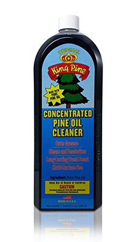 Pine Disinfectant Cleaner - King Pine - Concentrated Pine Oil Cleaner, Multi-Surface Cleaner, Heavy Duty Cleaner, Floor Cleaner - black 32oz Value Size