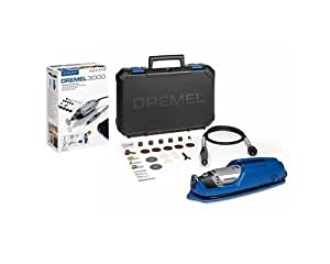 Dremel 3000-1/25 EZ - Multiherramienta con eje flexible (130 W, 1 complemento, 25 accesorios), color negro y azul