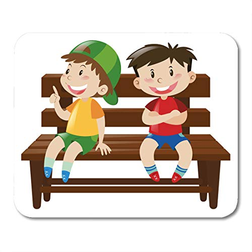 Amazon com : Semtomn Mouse Pad Kid Two Boys Sitting on