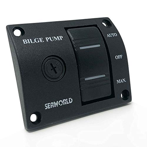 Five Oceans Three-Way Rocker Panel Bilge Pump Switch with Fuse FO-1342