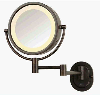SeeAll 8'' Oil Rubbed Bronze Finish Dual Sided Surround Light Wall Mount Makeup Mirror (Hardwired Model)