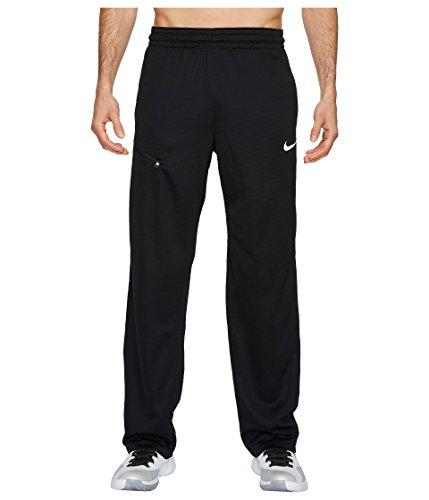 NIKE Men's Dry Rivalry Pants, Black/White, - Mens Fleece Pant Nike