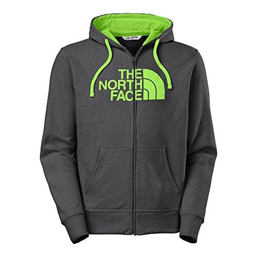 The North Face Half Dome Full Zip Hoodie Mens Asphalt Grey Heather/Power Green ()