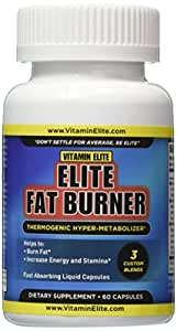 Elite Fat Burner Thermogenic Weight Loss Capsules - Increase Energy, Suppress Appetite, Burn Fat & Lose Weight. 60 Liquid Capsules