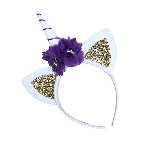 Ztl Girls Unicorn Headband Headwear Kids Birthday Party Cosplay Costume Hairband