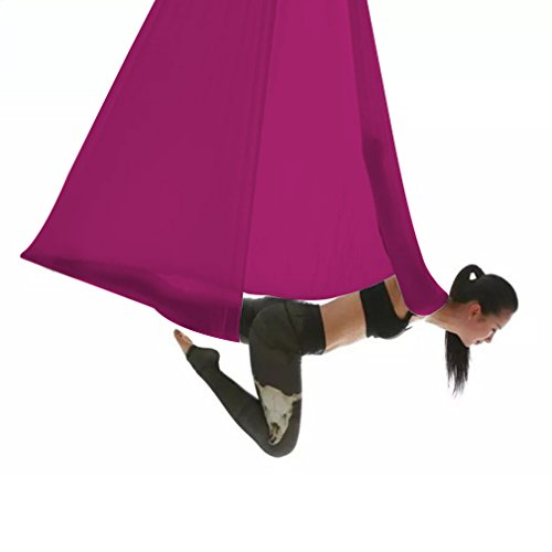 yoga flying swing yard pilates sling mount exercises workouts aerial yoga hammock  sling for air antigravity yoga inversion exercises for yoga bodybuilding aerial hammock  amazon    rh   amazon