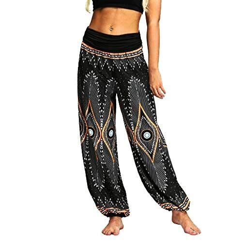 ZYUEER Pantalones Cortos Mujer Verano Tallas Grandes Hombres Sueltos Hippy Yoga Baggy Boho Aladdin
