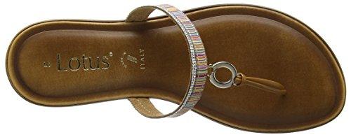Lotus Euston, Sandalias con Tira a T para Mujer Multicolour (rainbow Print)