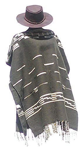 Good The Bad And The Ugly Costumes (Clint Eastwood Spaghetti Western Original Pattern 100% Wool Poncho w Leather Hat)