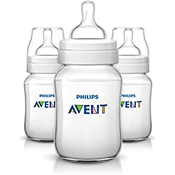 Philips Avent Anti-colic Baby Bottles, 3 Pieces