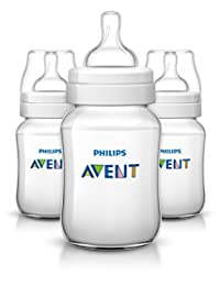 Philips Avent Anti-colic  Baby Bottles Clear, 9oz 3 Piece BOBEBE Online Baby Store From New York to Miami and Los Angeles