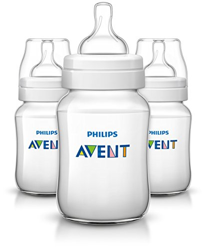 Philips Avent Anti-colic  Baby Bottles Clear, 9oz 3 (A Baby Baby Bottle)