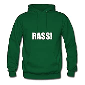 Rass White.png Bradfohod Hoodies Printed Women Fashionable Green