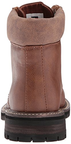 Tommy Hilfiger Mens Horus Combatboot, Cognac, 8.5 Medium Us