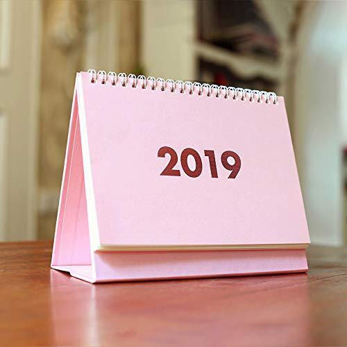 Calendario 2019 de computadora, calendario, oficina, hogar, profesor, calendario, Rosa (Pink Small), 19x17cm, 1