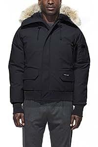 Canada Goose Men's Chilliwack Front-Zip Jacket with Fur Trimmed Hood(Navy_,Medium)