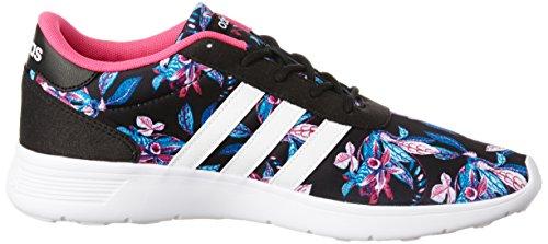 adidas Damen Lite Racer W Sneaker Low Hals Schwarz (Negbas/ftwbla/rosimp)