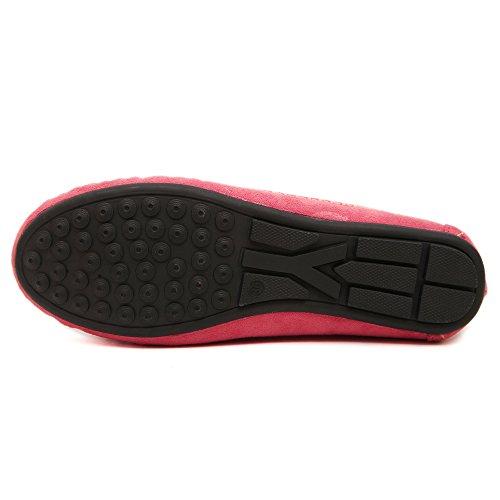 Makegsi Grote Maat Vrouwen Instappers Ballet Flats Rijden Schoenen Dames Flats Ons Maat 11 Rood