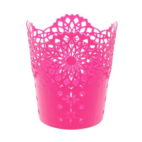 Storage Baskets - Creative Multifunctional Hollow Flower Pen Pot Makeup Brush Holder Desktop Rubbish Storage Basket - Various Extra Clothes Bulk Hyacinth Metal Bath Drawers Containers ()