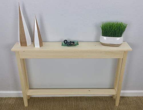 Narrow Foyer Games : Amazon quot unfinished pine narrow wall foyer sofa