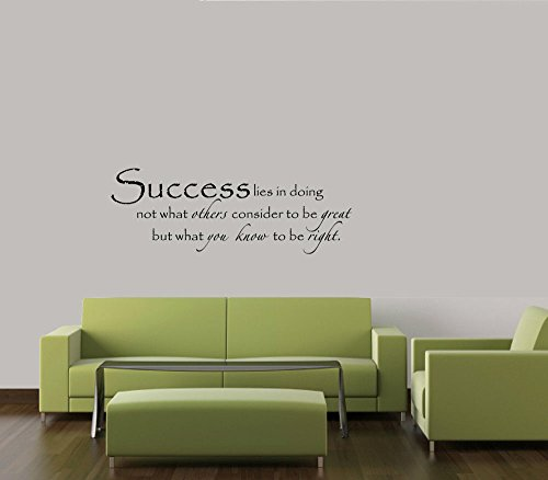 SUCCESS MOTIVATION MEANING DECAL WALL VINYL DECOR STICKER HOME (Halloweens Meaning Bible)