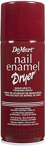 DeMert Nail Enamel Dry Spray 7.50 oz (Pack of 8) by Dermet