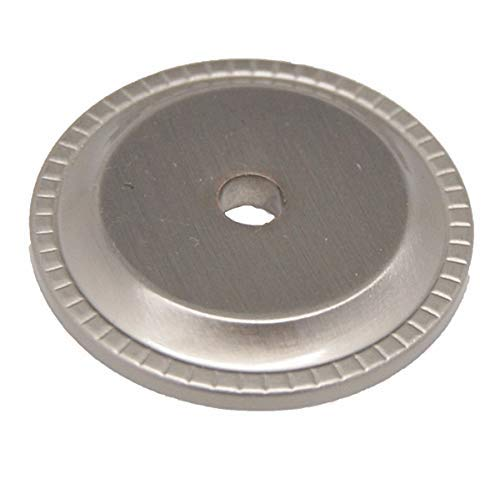 Liberty 1-1/4 in. Satin Nickel Ribbed Edge Cabinet Knob Backplate