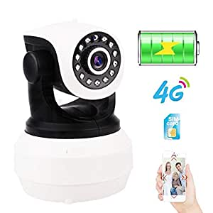 Cámara IP Batería Incorporada Videovigilancia 3G 4G Tarjeta Sim ...