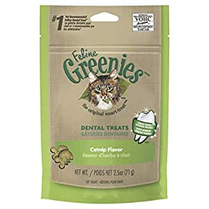GREENIES Feline Dental Cat Treat Catnip Flavour, 71g Bag