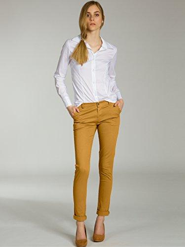 KHS037 Pantaloni Curry Cotone di Donna CASPAR Stretti qERaUd