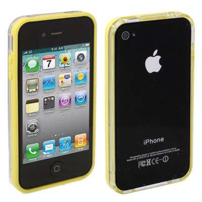 "Original THESMARTGUARD iPhone 4S / 4 Bumper im ""Transparo-Style"" - gelb"