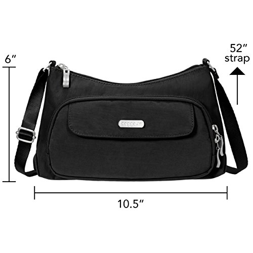 Baggallini Everyday Crossbody Bag – Stylish, Lightweight Purse With Built-In Wallet and Adjustable Strap
