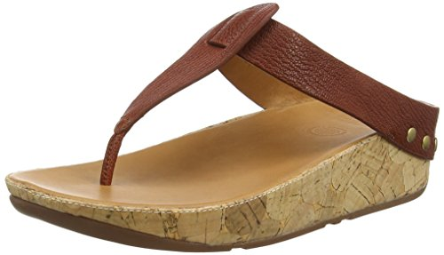 a Cork Flip Flop, Dark Tan, 6 M US (Cork Leather Flip Flops)