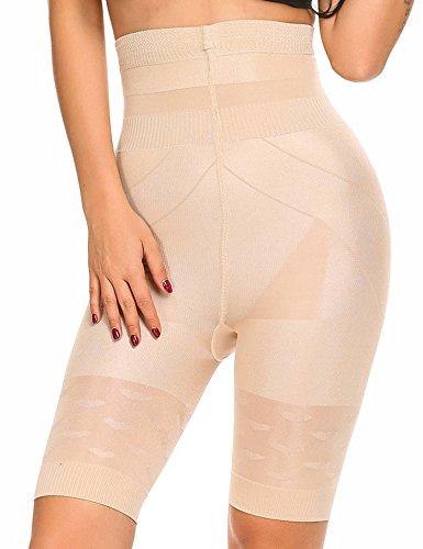 fed12bfa66 Dozenla Women s Sexy Tummy Control Shapewear Shorts High-Waist Slim Trainer  Shape Bodysuit (Medium