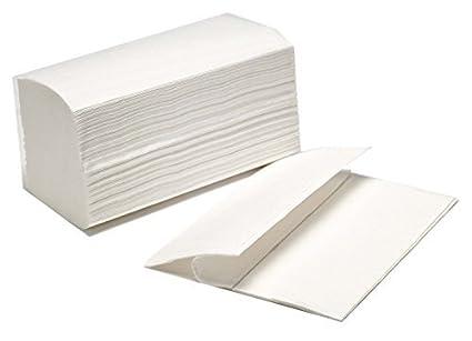 Caja de 20 paquetes de Toallitas Z Tissue o toallas Zig Zag secamanos. Total 3000