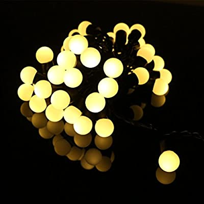 LED Ball String Lights, OFTEN® 5M 50 LEDs Waterproof Globe Starry Fairy String Lights for Outdoor Indoor Garden Yard Home Christmas Holiday Wedding Club Party Halloween (Warm White/ Multi-Color Flash Changing)