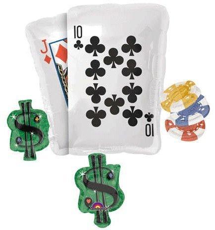 DDI 1334648 Poker Party Cluster Shape Mylar Balloon Case Of 2