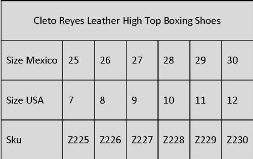 Cleto Reyes Leather Lace Up High Top Boxing Shoes - Black 2