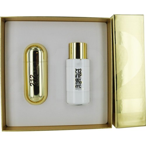 09 Eau De Parfum - 212 VIP by Carolina Herrera Gift Set for Women: 2.7 oz. Eau de Parfum Spray + 3.4 oz. Body Lotion