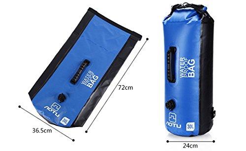 Honeysuck 30l impermeabile borsa a tracolla zaino per campeggio escursioni viaggio (blu)