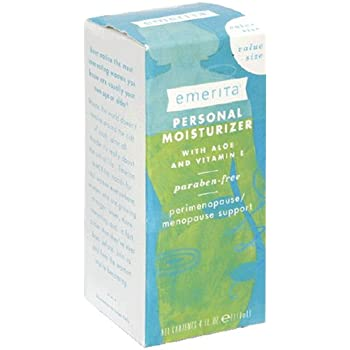 Emerita Personal Moisturizer with Aloe and Vitamin E, 4-Ounce Bottles (Pack of 2)