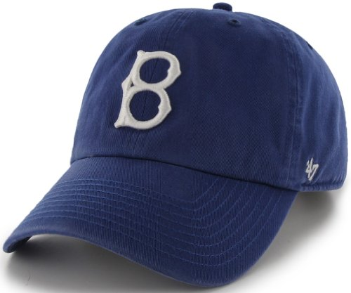 MLB Los Brooklyn Dodgers '47 Brand Clean Up Adjustable Cap-1932 Style, One Size, Royal