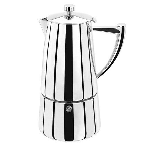 Stellar 10-Cup Espresso Maker, Silver, 600 ml Horwood SC64