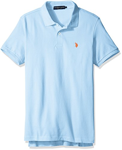 Mens S/s Shirt - U.S. Polo Assn. Men's Classic Polo Shirt, Terry Blue, S